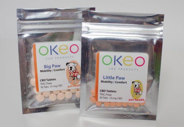 Okeo Paws CBD products