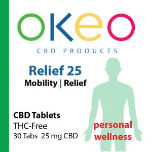 Okeo Relief front label
